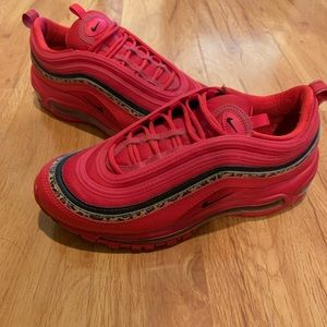 Air Max 97 Red with Leopard Stripe